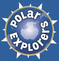 Polar Explorers LOGO (Blue Background)