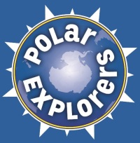 Polar Explorers LOGO (Blue Background)