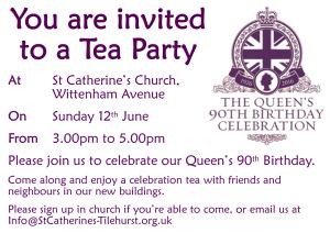 Tea party QE2 90 Web Poster