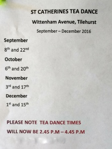 Tea Dance Dates