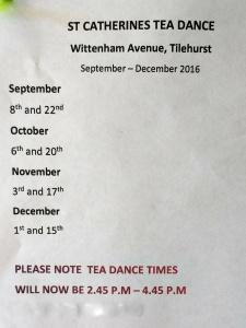 Tea Dance Dates