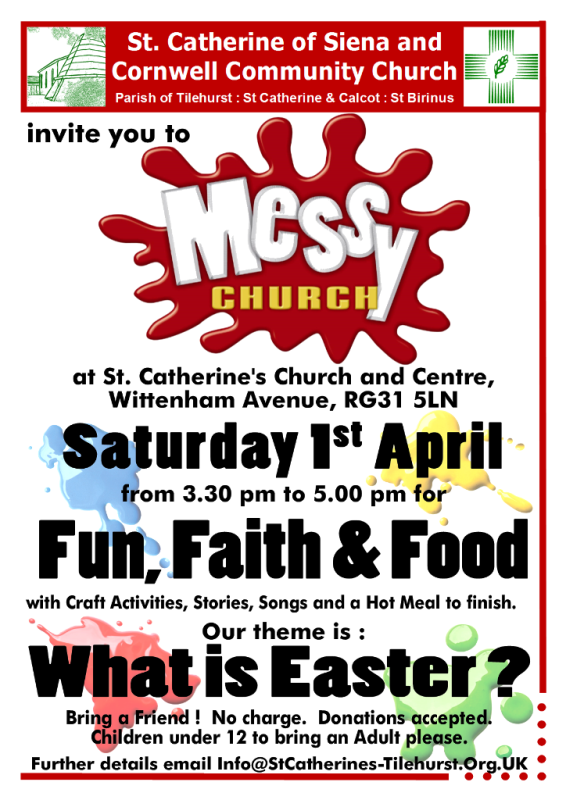 Messy Church What Is Easter Saturday 1st April St Catherine S