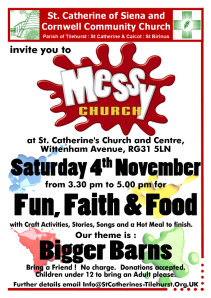 November Messy Church Advert - Bigger Barns