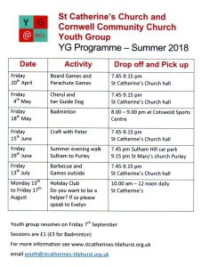 Youth Group Summer 18